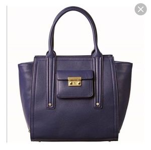 Phillip Lim Purple Faux Leather Bag Tote Purse